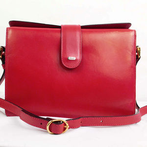 Bally Chic Lipstick Red Crossbody Camera Bag